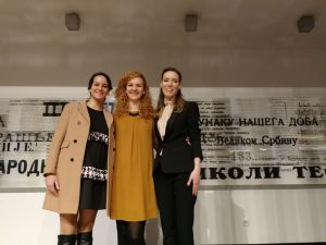 Upravni odbor Arapskog kulturnog centra - Saša Vasiljević, Maja Luković i Ena Pavlović