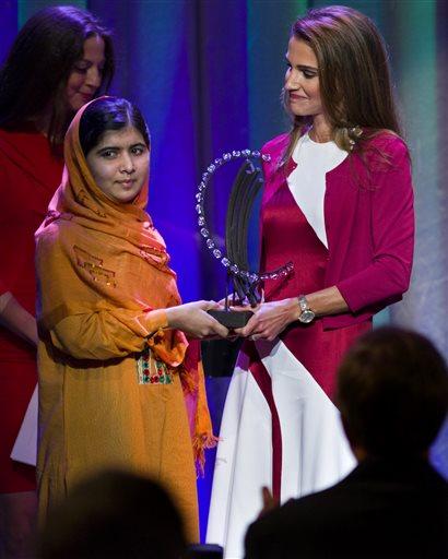 Kraljica Ranija i Malala Jusufzai (Foto: Craig Ruttle)
